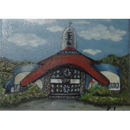Obraz - Olejomaľba - Kostol sv. Františka - Anna Sabolová