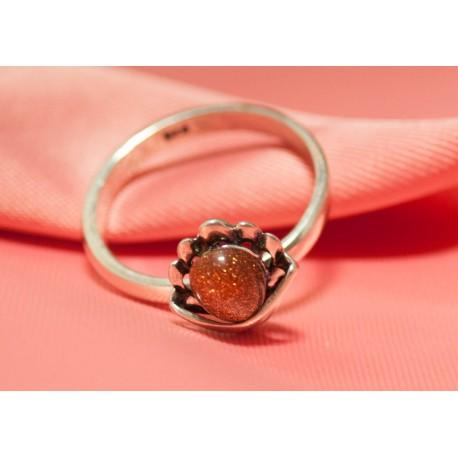 Strieborný prsteň s Jantárom - Ag925