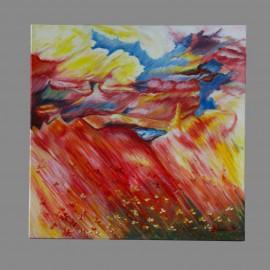 Obraz - Akryl na plátne - Farebná krajina - Mgr.Gabriela Žolnová