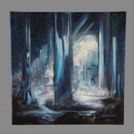 Obraz - Akryl na plátne - V modrom lese - Mgr.Gabriela Žolnová