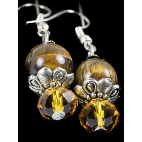 Tigrie oko - náhrdelník, náušnice, náramok