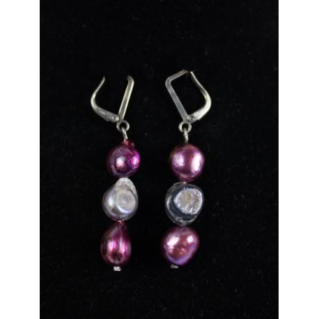 Baroxová perla kultivovaná - náhrdelník, náušnice