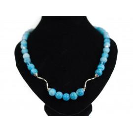 Praskaný achát - náhrdelník, náušnice