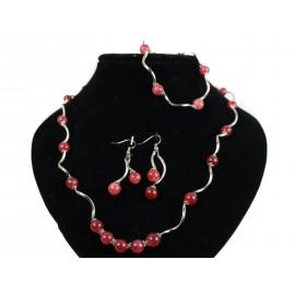 Jadeit - náhrdelník, náramok, náušnice