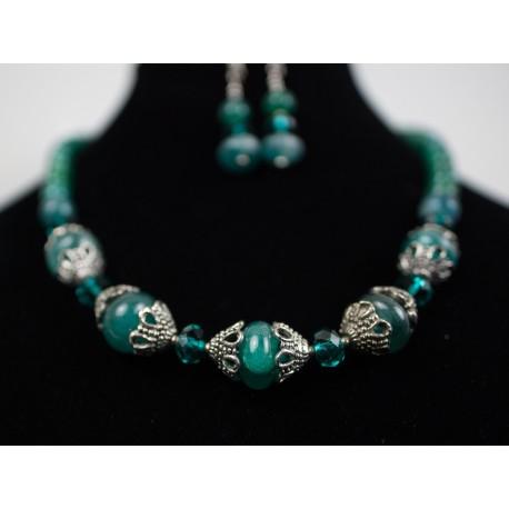 Jadeit - náhrdelník, náušnice