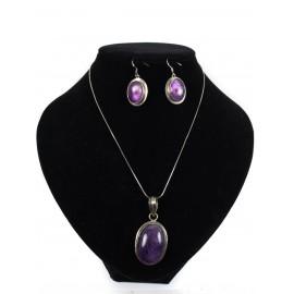 Ametyst - náhrdelník, náušnice