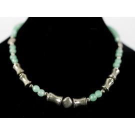 Smaragd, pyrit - náhrdelník, náušnice