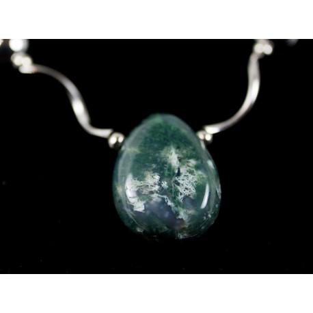Stromčekový achát - náhrdelník, náušnice