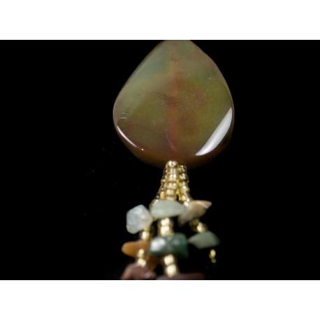 Ónyx, achát - náhrdelník
