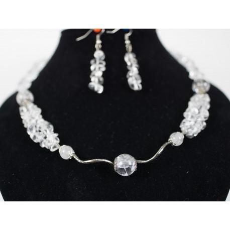 Krištáľ - náhrdelník, náušnice