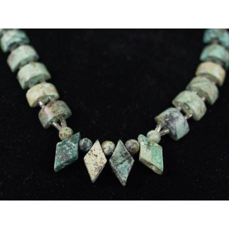 Africký tyrkys - náhrdelník, náušnice