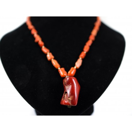 Korál bambusový - náhrdelník