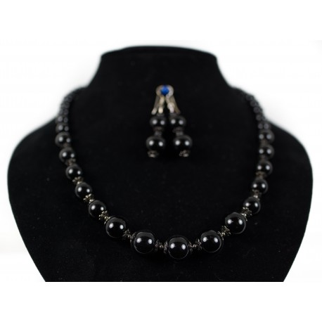 Ónyx - náhrdelníka, náušnice
