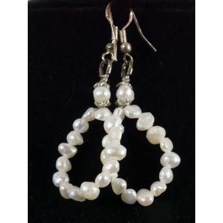 Perleť, perla riečna - náhrdelník, náušnice