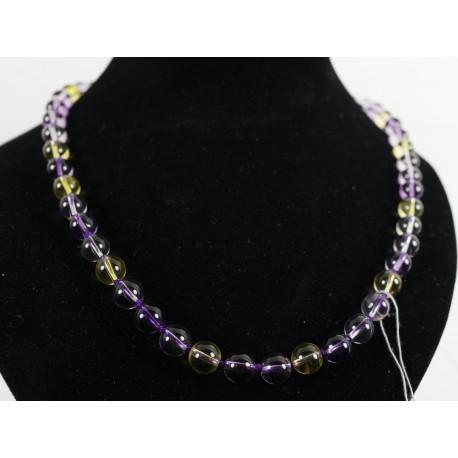 Citrín, ametyst - náhrdelník