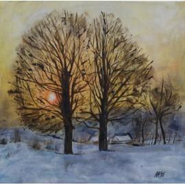 Obraz - Akryl - Západ slnka - Eleonóra Kovalčíková