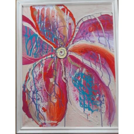 Obraz - Abstrakt kvet oranžový