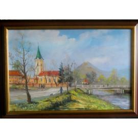 Obraz - Olejomaľba na plátne - Veľký Šariš - Vladimír Semančík