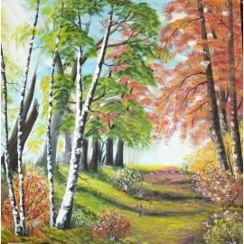 Obraz - Olejomaľba na plátne - Alej - Ján Lupčo