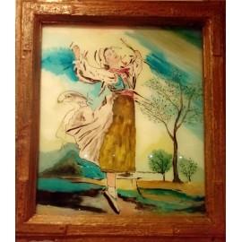 Obraz - Akryl - Maľba na okne - Tanečnica I. - Alexander Orlík