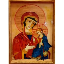 Obraz - Akryl - Maľba na sklo - Madona s dieťaťom - Alexander Orlík