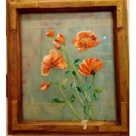 Obraz - Akryl - Maľba na sklo - Maky - Alexander Orlík