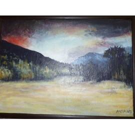Obraz - Akryl na sololite - Krajina - Mgr. Aneta Hafincová