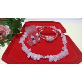 Ruženín-náhrdelník-náramok a náušnice