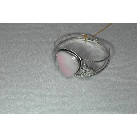 Ružový opál-náramok