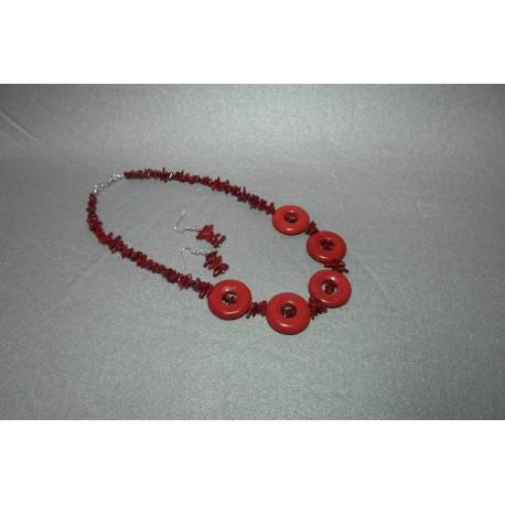 Koral-náhrdelník a náušnice