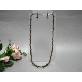 Jaspis-náhrdelník a náušnice