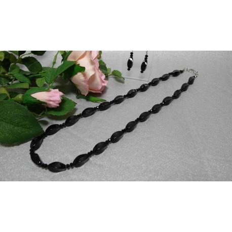 Onyx-náhrdelník a náušnice