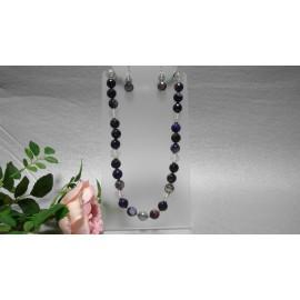 Achát-náhrdelník a náušnice