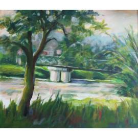 Obraz - Akryl - Pontónový most - Mgr. Margita Rešovská