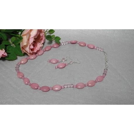 Jadeit - náhrdelník-náušnice