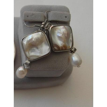 Perla a perleť - náušnice