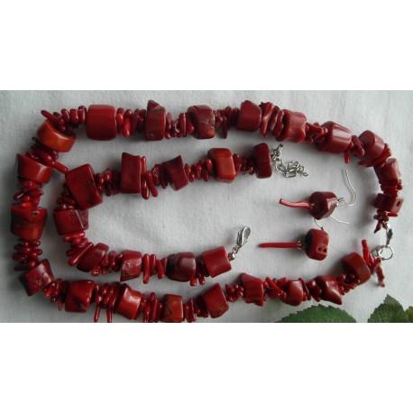 Korál-náhrdelník, náramok, náušnice