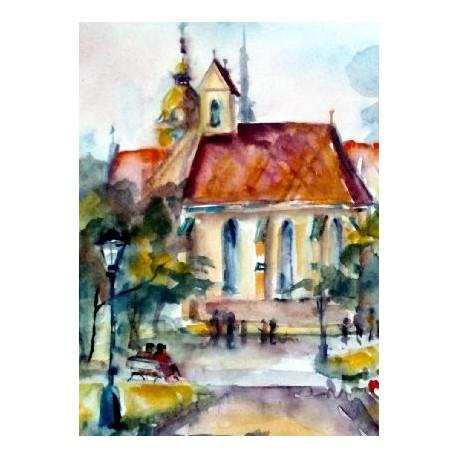 Ručne maľovaný obraz - Košice , Kaplnka sv. Michala