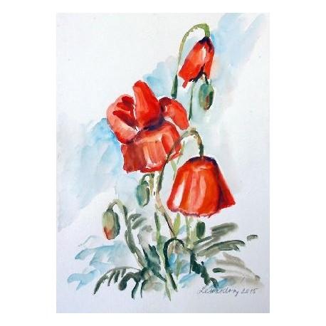 Ručne maľovaný obraz - Maky 1
