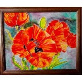 Obraz - Maľba na sklo - Maky - Jana Gubová