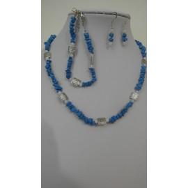 Tyrkenit-biely jadeit-náhrdelník-náramok-náušnice