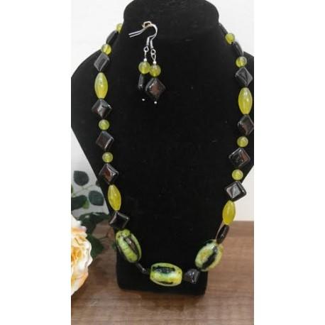 Ónyx-serafinit-achát-náhrdelník-náušnice
