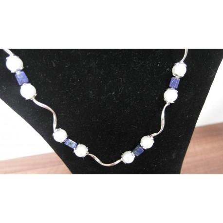 Lapis lazuli-shell perla-náhrdelník-náramok-náušnice