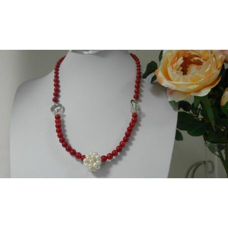 Korál a riečna perla, náhrdelník