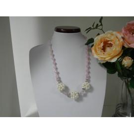 Ruženín, riečná perla - náhrdelník, náušnice