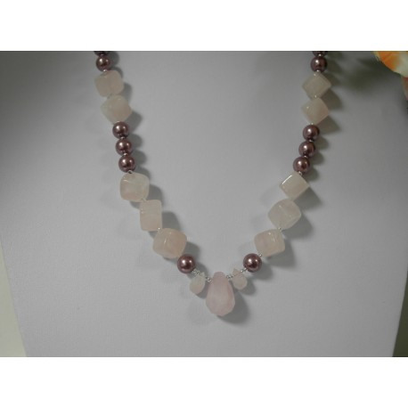 Ruženín, shell perly - náhrdelník, náramok, náušnice