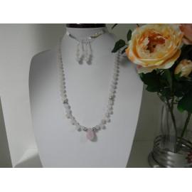 Ruženín- náhrdelník a náušnice