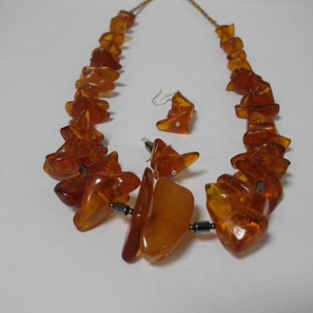 jantár - náhrdelník, náušnice