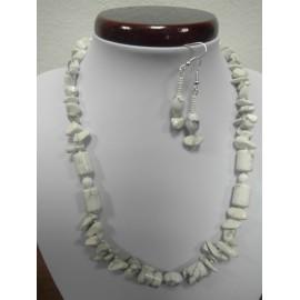 Chalcedon - náhrdelník,náušnice
