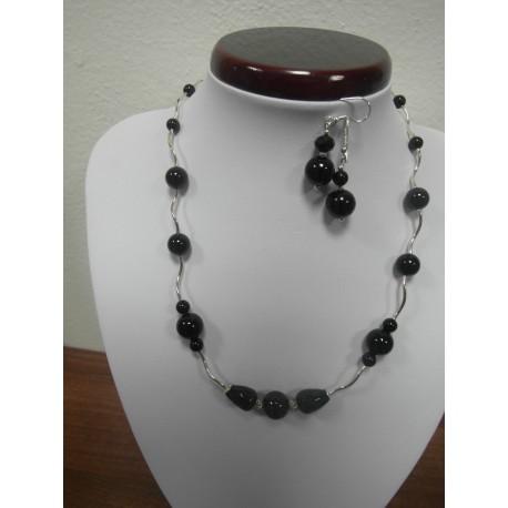 Ónyx, Ag925 - náhrdelník,náušnice